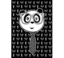 Panda Nerd - Black and White Photographic Print