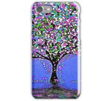 Trees and Rain Oil Painting Abstract iPhone Case/Skin