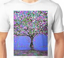 Trees and Rain Oil Painting Abstract Unisex T-Shirt