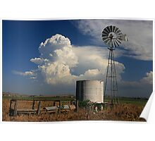 Windmills and Thunderstorms - Country Australia Poster