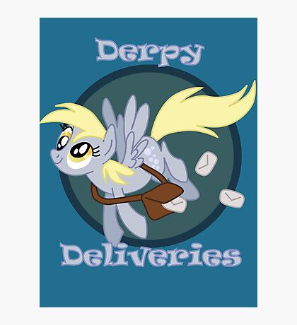 Derpy Deliveries Photographic Print