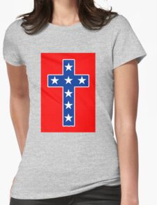 STAR SPANGLED CROSS Womens Fitted T-Shirt