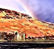 Lochranza Castle & Rainbow by DeneWest