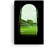 plaza de espana seville green neon lights Canvas Print