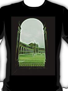 plaza de espana seville green neon lights T-Shirt
