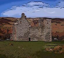Lochranza Castle by DeneWest