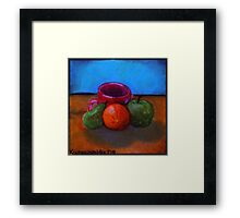 Fruits and Cup of Coffee Framed Print