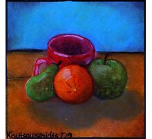 Fruits and Cup of Coffee Photographic Print