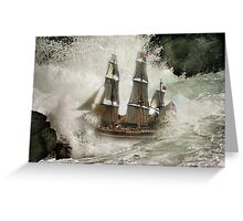 HMS Bounty . Greeting Card