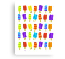 Colorful Popsicles Pattern Canvas Print