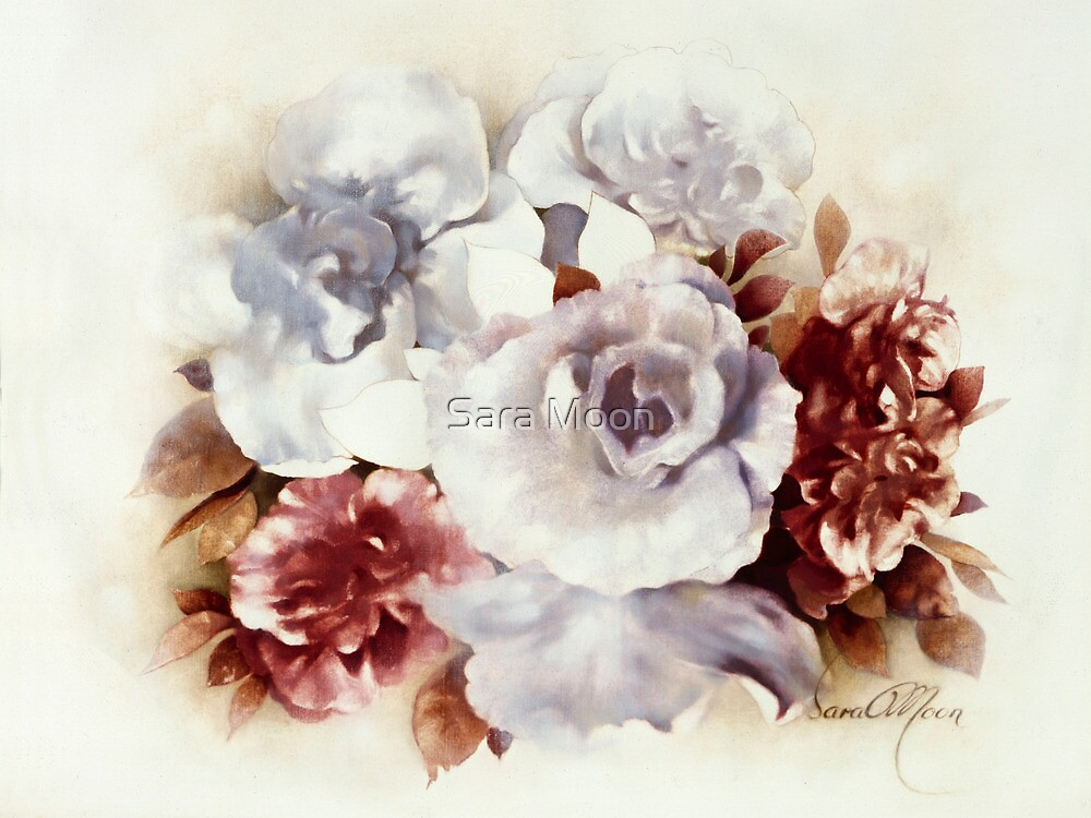 """Bouquet lV"" Oil on Canvas by Sara Moon"