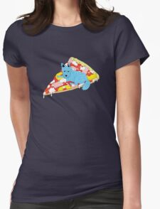 Pizza Dog Womens Fitted T-Shirt