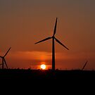 Sun set over the windmills by Russell Couch