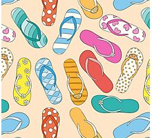 Sandals Pattern Photographic Print