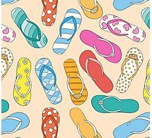 Sandals Pattern Photographic Print