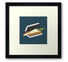 Rubber Chicken & Waffles Framed Print