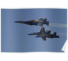 the Blue Angels in a Split Poster