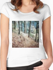 Woodland Trail Women's Fitted Scoop T-Shirt