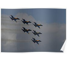 Blue Angels ~ flight of six Poster