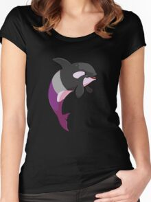 Asexuwhale - no text Women's Fitted Scoop T-Shirt
