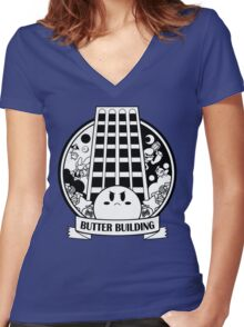 Kirby - Butter Building Women's Fitted V-Neck T-Shirt