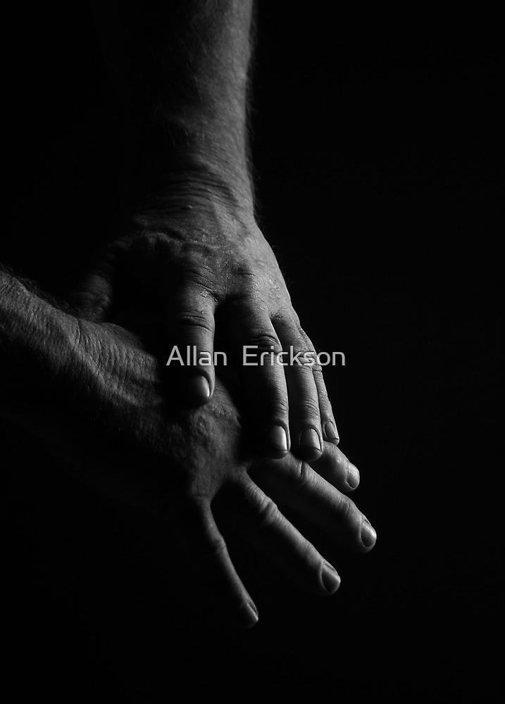 portrait of working man's hands... by Allan  Erickson