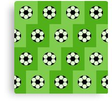 Football green pattern  Canvas Print