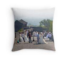 Weddings on the Wall Throw Pillow