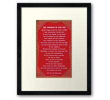 Paradox of our age Framed Print
