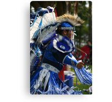 Blue Dancer Canvas Print