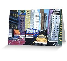 Uncle Eddy's Yellow Taxi Greeting Card