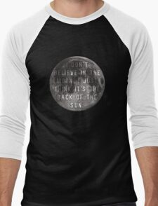 I Don't Believe in the Moon (Scrubs) Men's Baseball ¾ T-Shirt