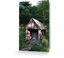 Old Spring House, morning sunlight Greeting Card