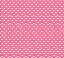 Vintage pink pattern with polka dots by olgart
