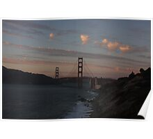 the Golden Gate Bridge from the bluffs Poster