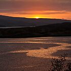 Sunset over distant hills by Shaun Whiteman