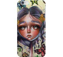 Chrysalis and Butterflies - Pop Surrealism Illustration iPhone Case/Skin