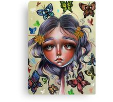 Chrysalis and Butterflies - Pop Surrealism Illustration Canvas Print