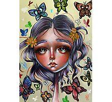 Chrysalis and Butterflies - Pop Surrealism Illustration Photographic Print