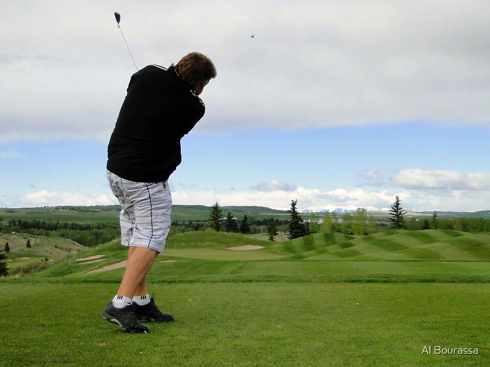 Golf Swing A by Al Bourassa