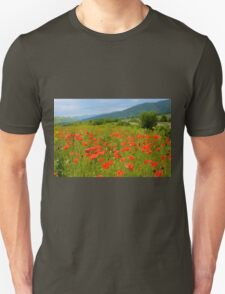 Field of Red Poppy Flowers T-Shirt