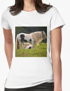 Mother and foal Womens Fitted T-Shirt