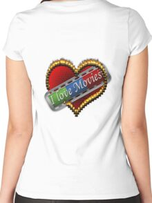 I Love Films Women's Fitted Scoop T-Shirt