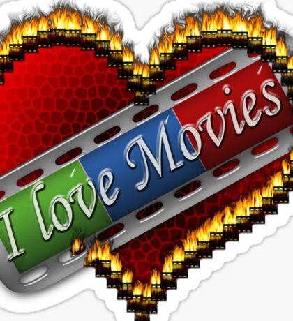 I Love Films Sticker