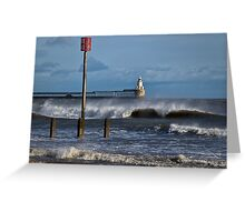 Windswept seascape Greeting Card