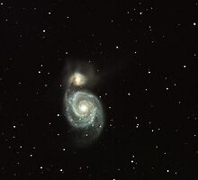 The Whirlpool Galaxy, M51 in Canes Venatici by outcast1