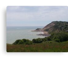 Cliffs at Fairlight - East Sussex / England Canvas Print