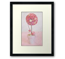 Pink Topiary Framed Print