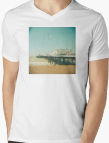 Brighton Pier Mens V-Neck T-Shirt