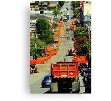 There Goes The Neighborhood In Orange Canvas Print